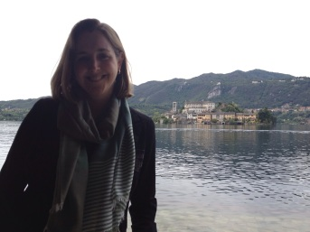 Erin in Lake Orta, Italy