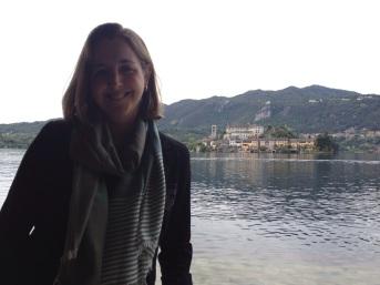 Erin in Lake Orta, Italy